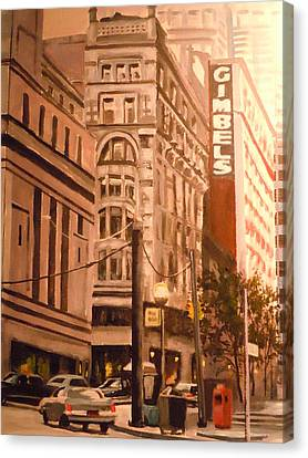 Gimbels In Pittsburgh Canvas Print