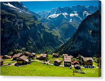 Gimmelwald In Swiss Alps - Switzerland Canvas Print