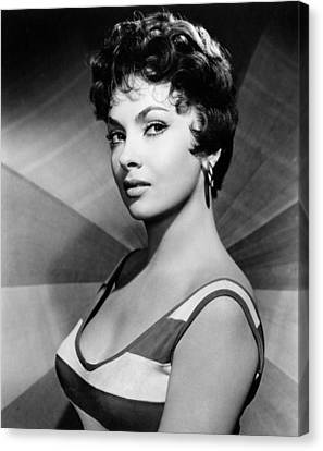 1950s Portraits Canvas Print - Gina Lollobrigida, Ca. Late 1950s by Everett
