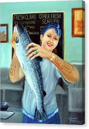 Gina's Fresh Catch Canvas Print