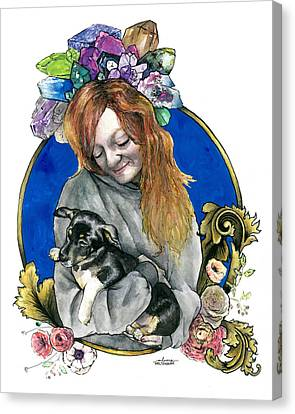 Ginger And Her Lovelies Canvas Print by Arleana Holtzmann