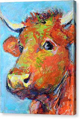 Canvas Print featuring the painting Ginger Horn by Mary Schiros