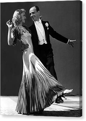 Ginger Rogers And Fred Astaire  Canvas Print by American School