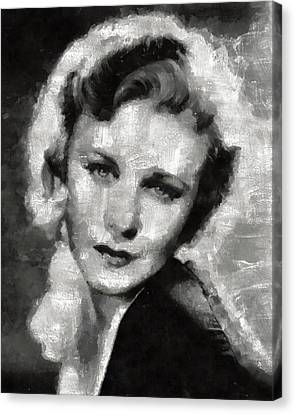 Ginger Rogers By Mary Bassett Canvas Print by Mary Bassett