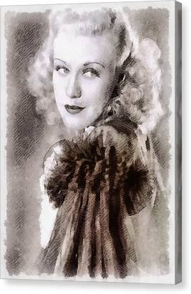 Ginger Rogers Hollywood Actress And Dancer Canvas Print by Frank Falcon