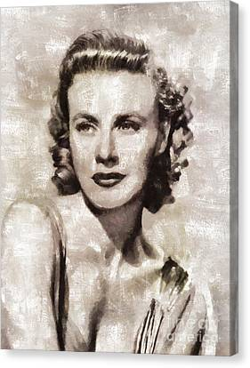 Ginger Rogers, Hollywood Legend By Mary Bassett Canvas Print by Mary Bassett