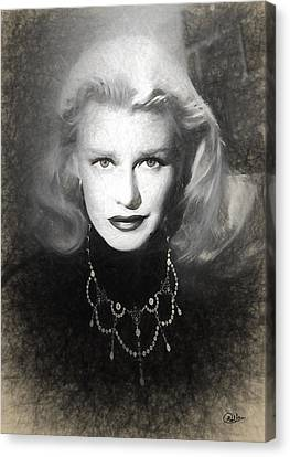 Ginger Rogers Sketch Canvas Print by Quim Abella