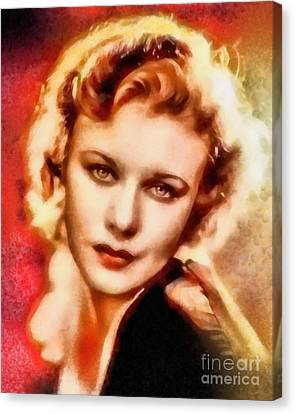 Ginger Rogers, Vintage Hollywood Legend Canvas Print by Frank Falcon