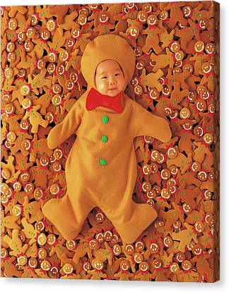 Gingerbread Baby Canvas Print