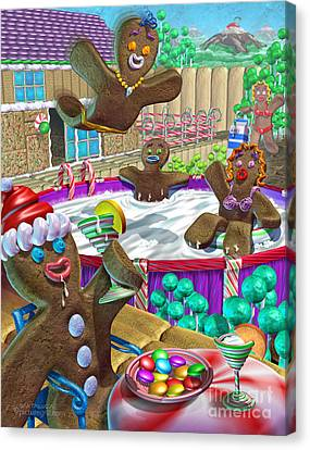 Licorice Canvas Print - Gingerbread Candy Party by Shiny Thoughts