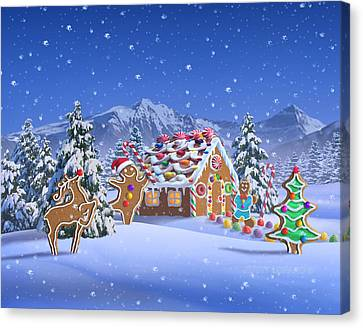 Canvas Print - Gingerbread House by Jerry LoFaro