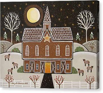 Gingerbread Star Barn Canvas Print