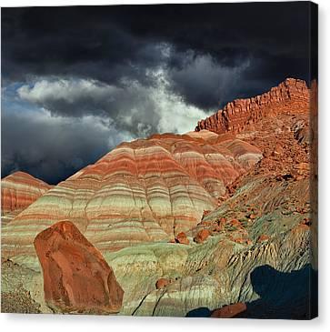 Rimrock Canvas Print - Gingham Skirts Butte  by Kathleen Bishop