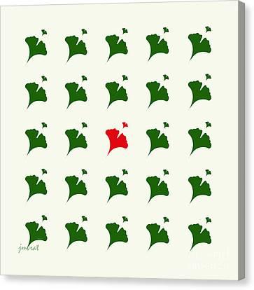 Shower Head Canvas Print - Ginkgo M 3 by Johannes Murat