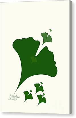 Shower Head Canvas Print - Ginkgo M1 by Johannes Murat