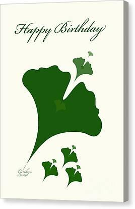 Shower Head Canvas Print - Ginkgo M 4 by Johannes Murat