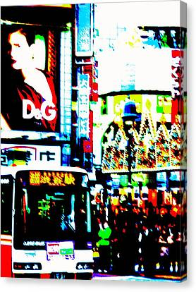 Ginza's Nights  Canvas Print