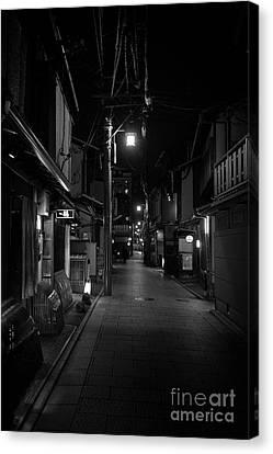 Gion Street Lights, Kyoto Japan Canvas Print