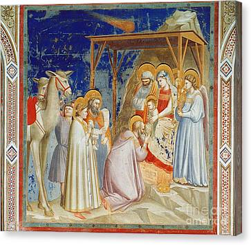 Giotto: Adoration Canvas Print