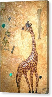 Giraffe   Sold  Canvas Print by Tinsu Kasai