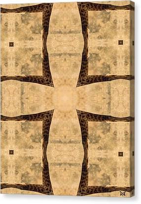 Giraffe Cross Canvas Print by Maria Watt