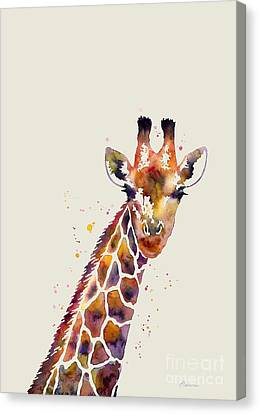Giraffe Abstract Canvas Print - Giraffe by Hailey E Herrera