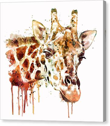 Giraffe Head Canvas Print by Marian Voicu