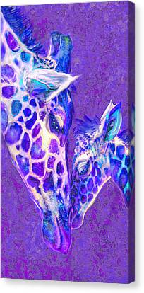 Giraffe Love 515 Canvas Print by Jane Schnetlage