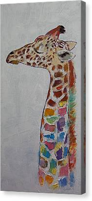 Giraffe Abstract Canvas Print - Giraffe by Michael Creese