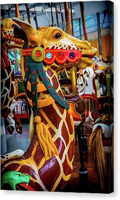 Giraffe Ride Canvas Print by Garry Gay