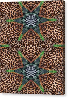Giraffe Stars Canvas Print by Maria Watt