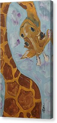 Giraffe Tall Canvas Print by Terri Einer