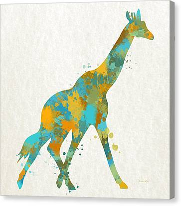 Giraffe Watercolor Art Canvas Print by Christina Rollo