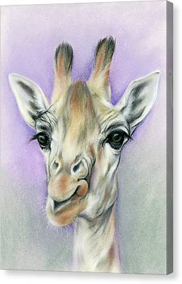 Giraffe With Beautiful Eyes Canvas Print by MM Anderson