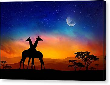 Giraffes Can Dance Canvas Print