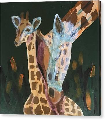 Giraffes Canvas Print by Donald J Ryker III
