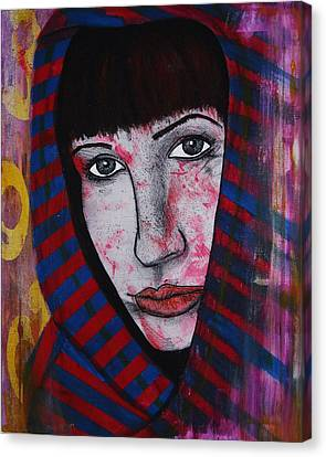 Canvas Print featuring the painting Girl 11 by Josean Rivera