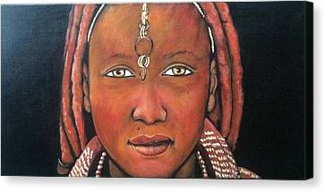 Girl From Africa Canvas Print by Jenny Pickens