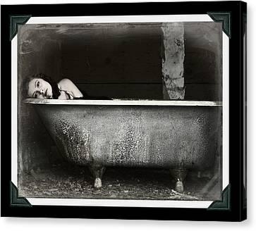 Girl In A Bath Tub  Canvas Print by Pamela Patch