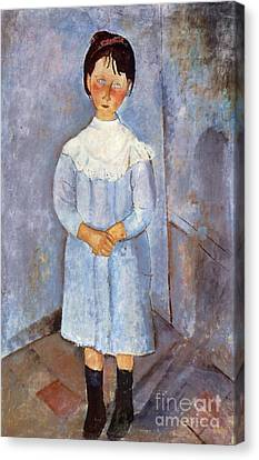 Girl In Blue, 1918 Canvas Print