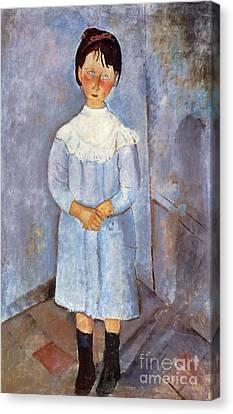 Girl In Blue, 1918 Canvas Print by Amedeo Modigliani