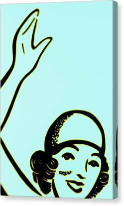 Girl In Blue Canvas Print by John Gusky
