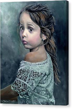Girl In Lace Canvas Print
