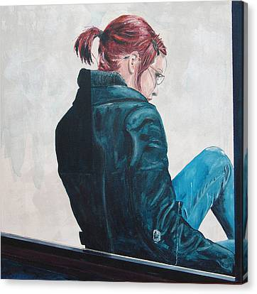 Girl In The Window-sfai Canvas Print by Kevin Callahan