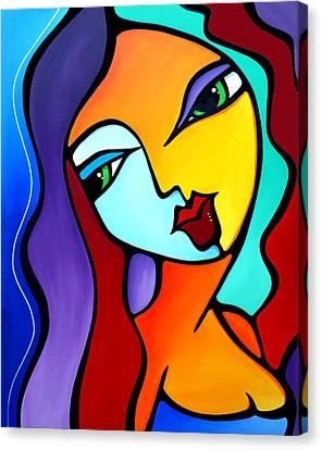 Abstract Art On Canvas Print - Girl Like You by Tom Fedro - Fidostudio