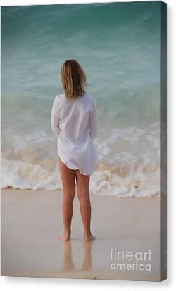Girl On The Beach Canvas Print