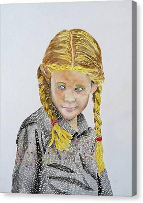 Girl Portrait Canvas Print by Gary Thomas