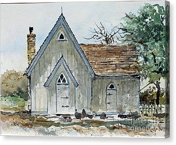 Girl Scout Little House Canvas Print by Monte Toon