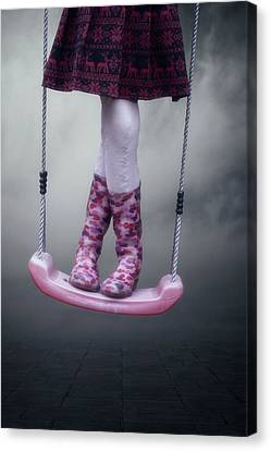 Girl Swinging Canvas Print by Joana Kruse