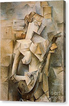 Girl With A Mandolin Canvas Print by Picasso